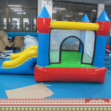 indoor mini inflatable air bounce castle with slide for kids