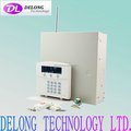 8 Zones wired/wireless compatible intelligent alarm control panel
