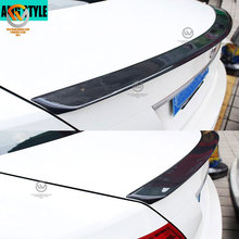 AMG Style Carbon Fiber Added On Trunk Spoiler Lip Wing Body kits For C Class W204 2008-2014