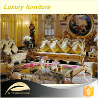 AS1301A-Luxury French Baroque Collection Royal Living Room Furniture/Exquisite Wooden Hand