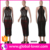 Wholesale hot ladies sexy transparent black tight long party dress