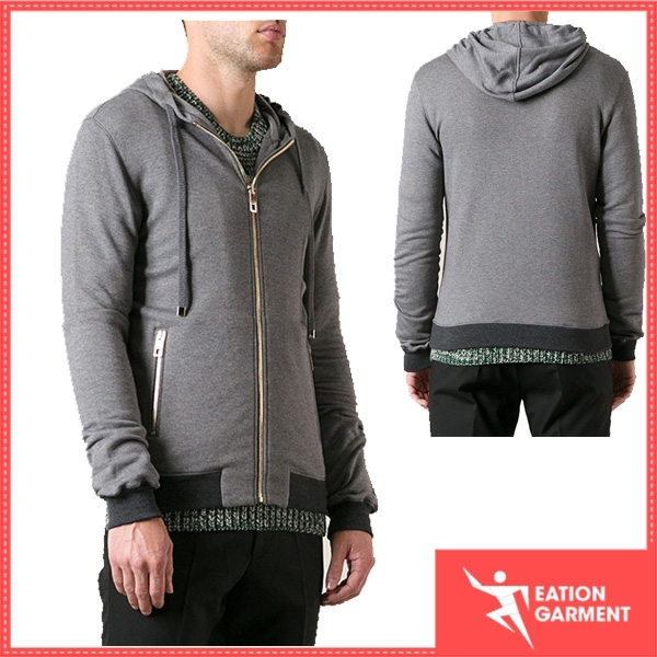 grey customized zip hoody tall gym hoodies for men online