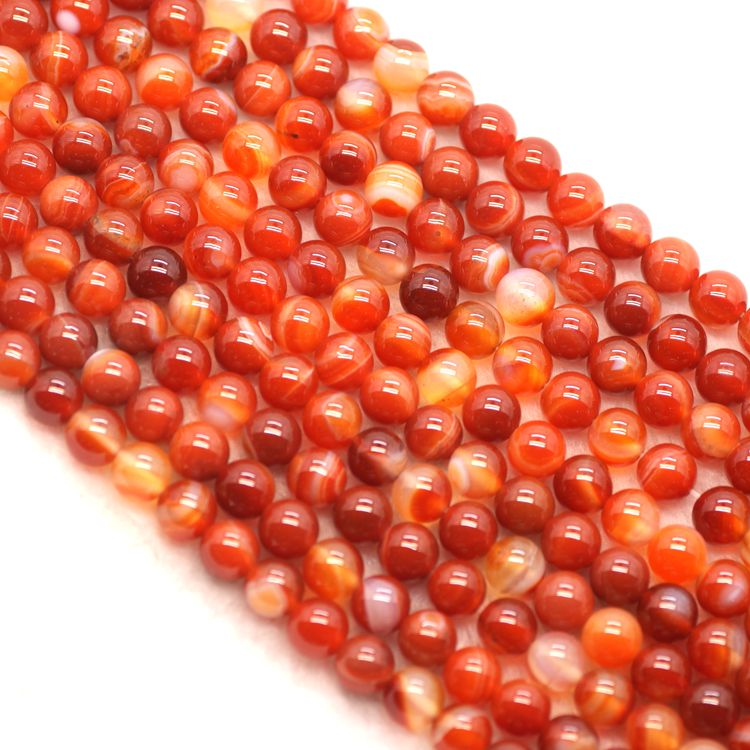 Natural stripe red agate stone Beads