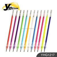 colored plastic gel pen with diamand refill YHG1217
