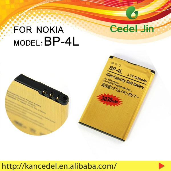 android phone with long battery life gold battery for NOKIA BP-4L