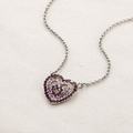 Lastest Fashion jewelry heart crystal pendant necklace for women