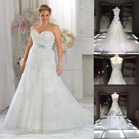 TH7828J Latest sweetheart wedding dress for plus size wedding dresses maxi for fat women