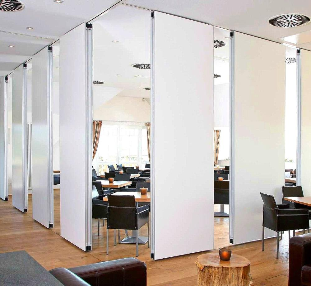 Single wheel Hanging wall dividers for conference room