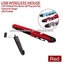 2014 portable wireless pc hand writing pen mouse plug and play