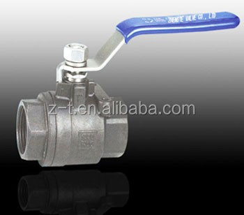 stainless steel 1000PSI 2PC 1000 WOG cf8m bullet valve ball velan from wenzhou zhengte