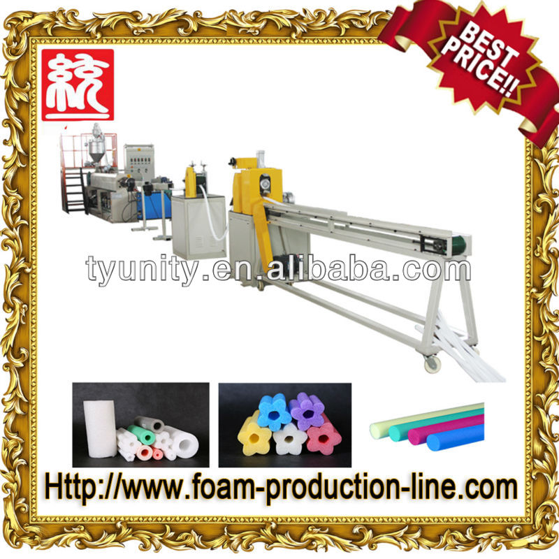 High Quality pe foam pipe extruder
