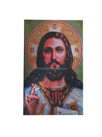 JESUS CHRIST GLASS MOSAIC PORTRAIT