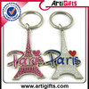 pure white and translucence top selling metal promotional keychain football world cup 2014