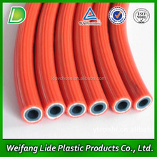 Orange PVC Corrugated Gas Heater Hose, Braided flexible gas hoses,Cooker gas pipe