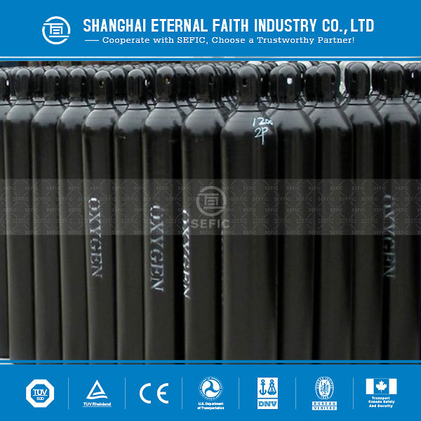 High Standard Working Pressure 2.0MPa Industrial Used Seamless Steel Cylinder Oxygen Cylinders Price