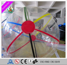 transparent striated inflatable mega ball inflatable water walking ball