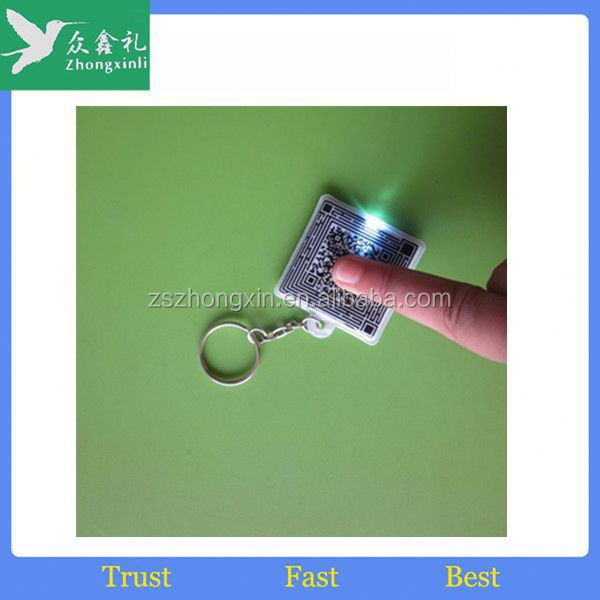 2015 new customized felt key ring/led ring light with key chain