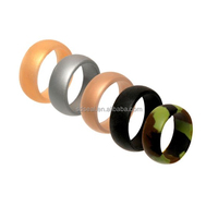 Embossed Silicone Rubber Wedding Rings For