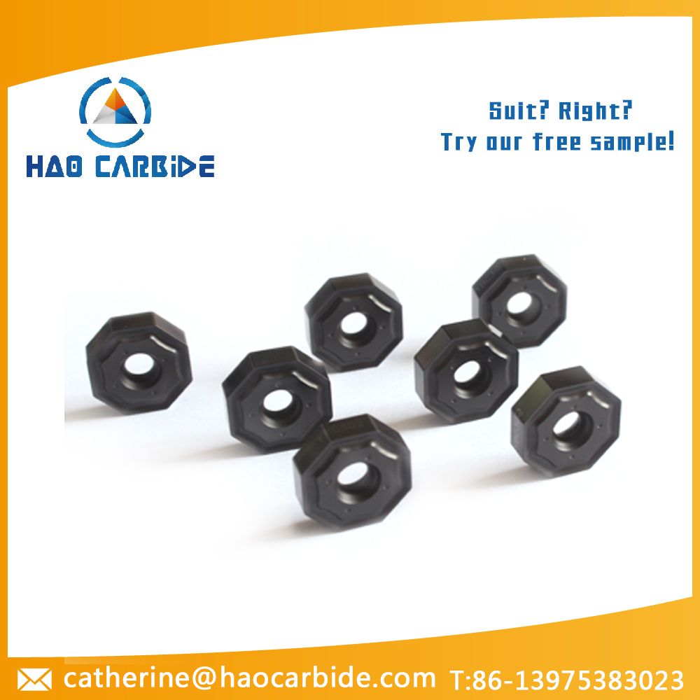 Tungsten carbide Inserts for face milling