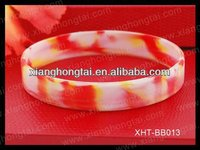 Tie Dye swirl color silica gel bracelet, healthy colorful silicone energy power wrist band