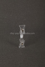 double sided clear plastic spring clips for pop display / tickets holder clip