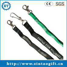 2013 Free customized woven imprint lanyards