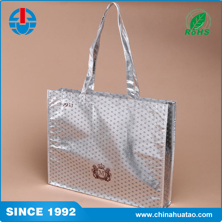 Fugang Customized Design Laser Coated Laminated PP Non Woven Bags