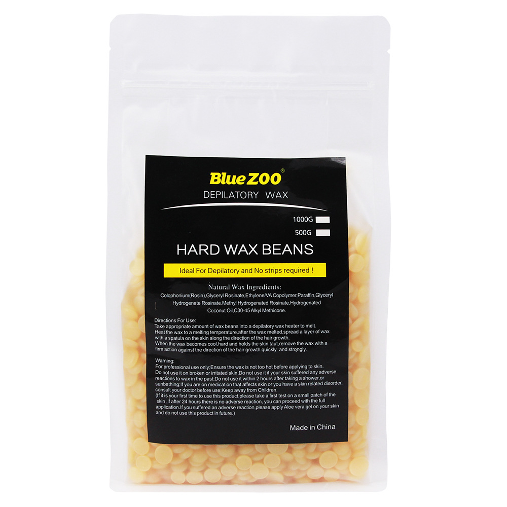 Bluezoo 500g 10 flavors hard wax beans for hair removal