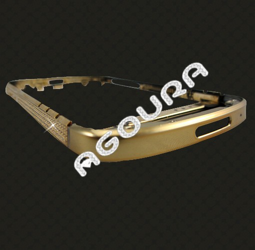 For blackberry <strong>q10</strong> gold bezel housing,24k gold plating, gold back plate for Blackberry <strong>Q10</strong>,back cover for blackberry