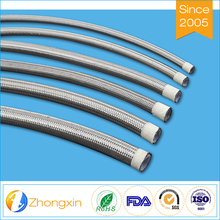 "Flexible low friction coefficient high temperature resistance stainless steel braided 1/2"" ptfe hose"