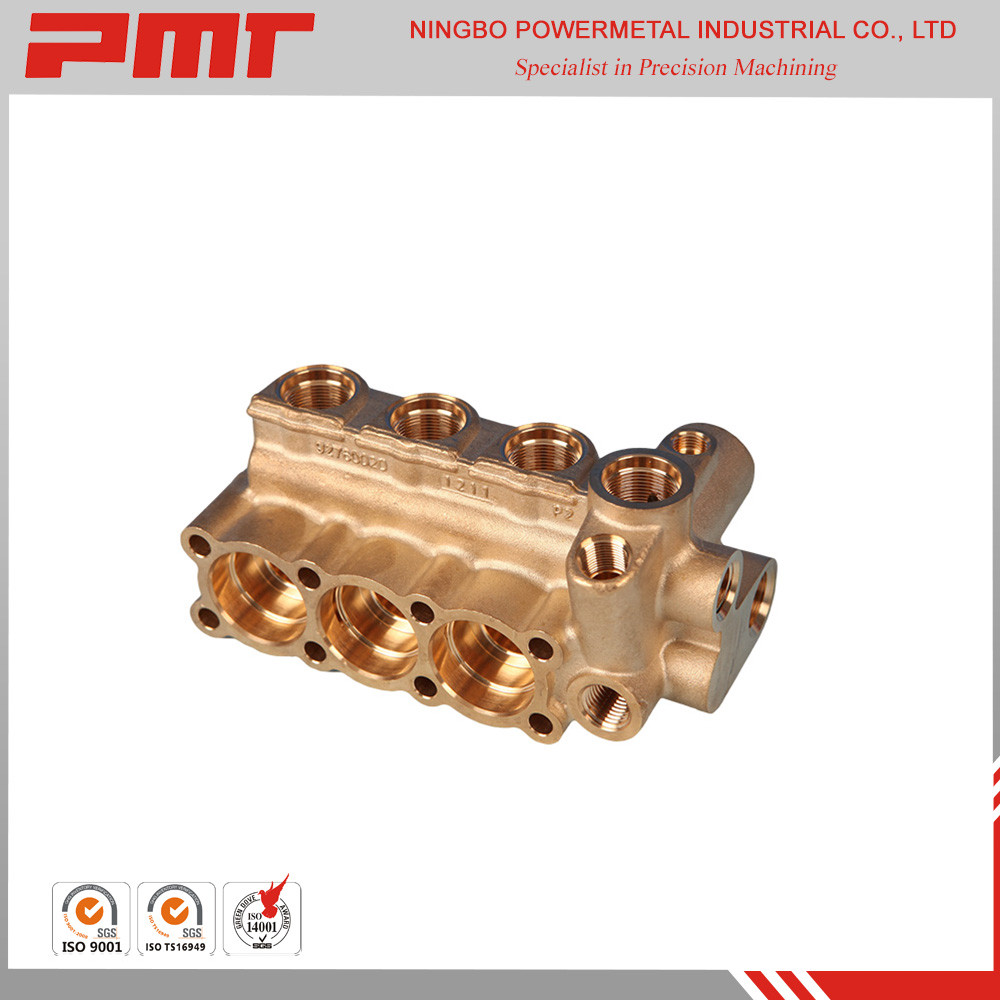 5 axis cnc machining and forged brass pump parts