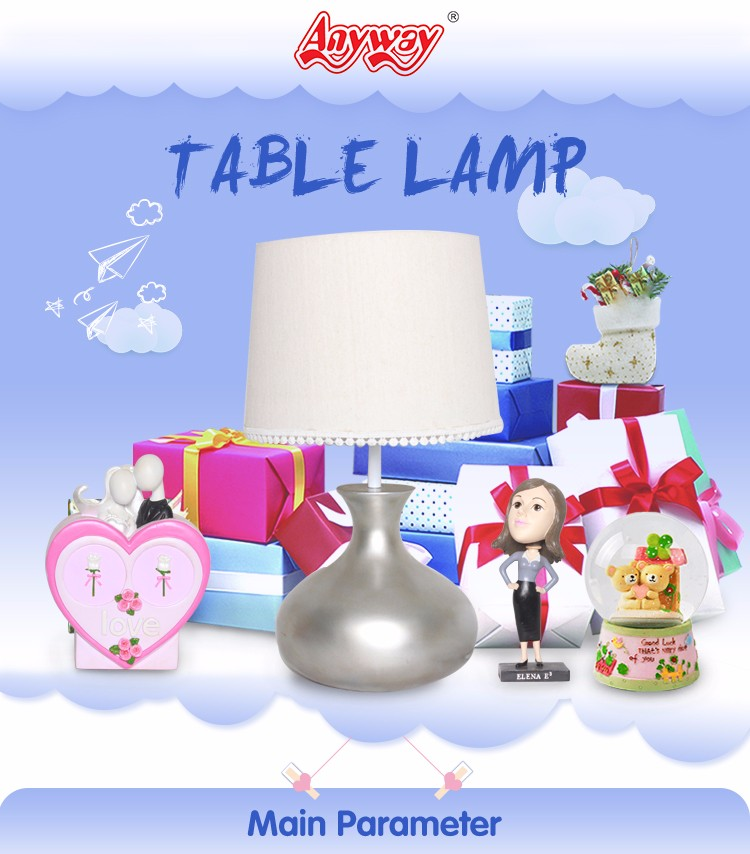 Low Price Small Resin Figurines White Bedside Table Lamps