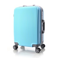 Aluminum trolley business travel luggage case with retractable wheels