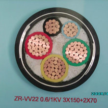 3X150+2X70 Copper Conductor Low Voltage Power Cable ZR-VV22