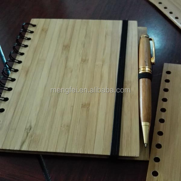 bamboo notebook with bamboo pen