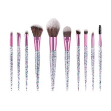 Amazon HOT Makeup <strong>Brushes</strong> Private Label Glitter Makeup <strong>Brush</strong> Set Synthetic Vegan Hair Rhinestone Crystal Glitter Makeup <strong>Brush</strong>