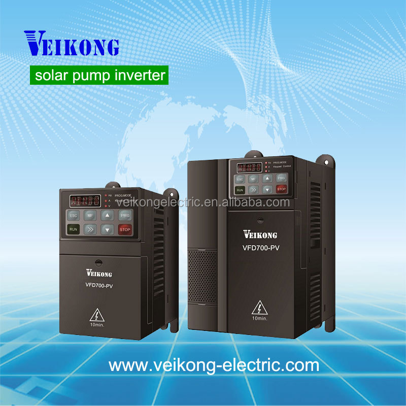 11KW 3 phase pump inverter DC to AC power china ac solar pumping inverter 380~460vac three phase VFD drive