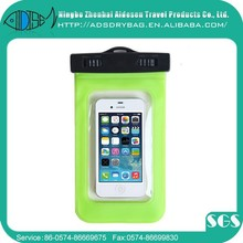 Custom 2015 clear pvc waterproof pouches for mobile phones,waterproof pvc pouch