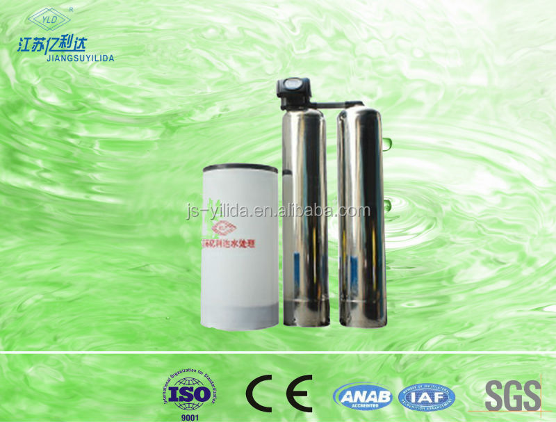 Stainless steel /FRP resin-tank automatic water softener system Remove Calcium
