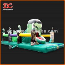 Attractive Super Hulk Cartoon Kids Inflatable Slide Toy
