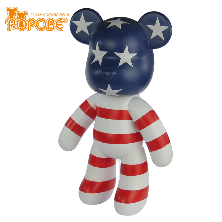 2018 New Home DecorationModel	POPOBE 5 inch bear Size	5 inch ( 14 cm height) Material	Eco-friendly Pvc Function	keychain, gift