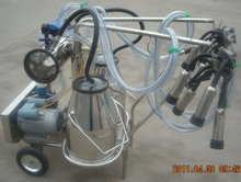 high quality rotary vane vacuum pump portable/mobile cow milker