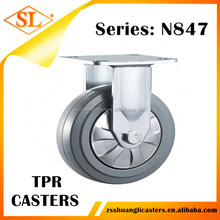 rigid heavy duty industrial caster fixed wheels