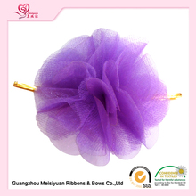 Chiffon/Mesh Flower With Wire Handmade Decorative Fabric Flowers For Gift Packing