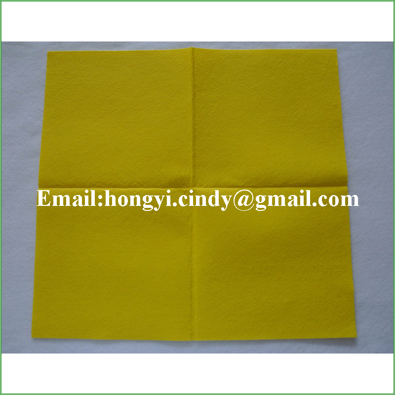 80%viscose, 20%polyester 50x70cm logo printed orange super absorbent nonwoven floor cloth