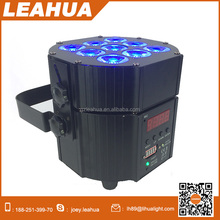 9pcs*10W RGBWA+UV battery powered led par can uplighting for weddings