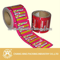 Plastic roll packaging film for candy wrapped