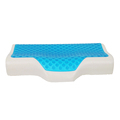 Top Breathable Mesh Fabric Body Butterfly Shape Plush Memory Foam Cooling Gel Pillow For Sleeping