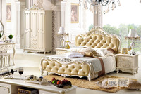 European classic bedroom sets royal design king size bed solid wood bedroom furniture