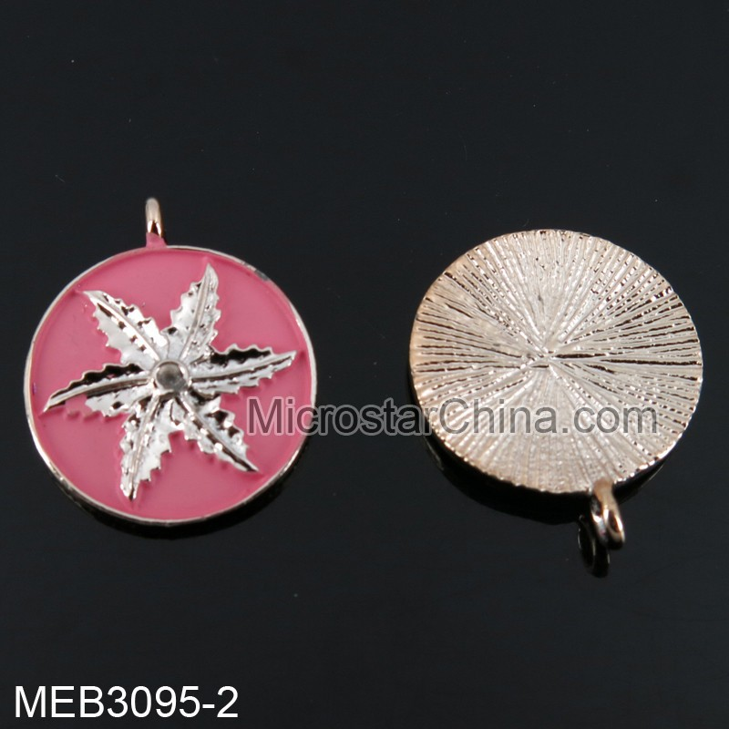 20mm Europe hot sale have stock mix color circle pendant meaning with leaf